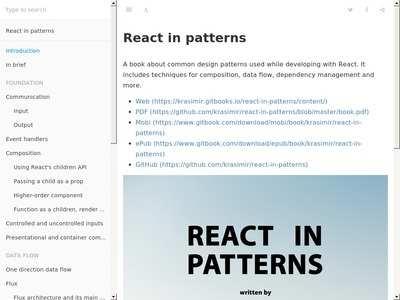 React in patterns — Krasimir Tsonev | BibSonomy