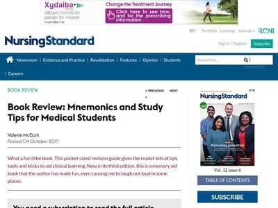 Book Review: Mnemonics and Study Tips for Medical Students