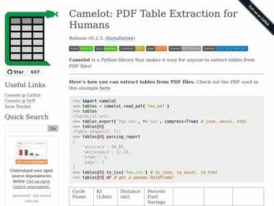 Camelot: PDF Table Extraction for Humans — Camelot 0 2 3