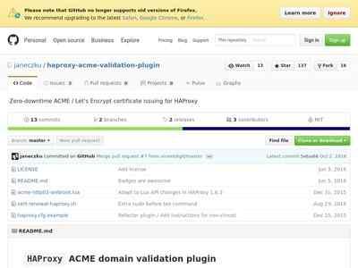 GitHub - janeczku/haproxy-acme-validation-plugin: Zero