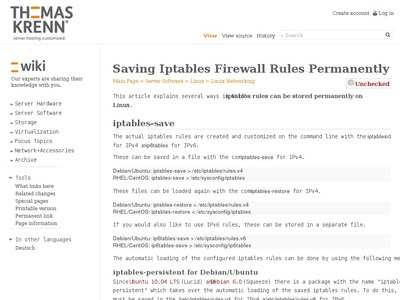 Saving Iptables Firewall Rules Permanently