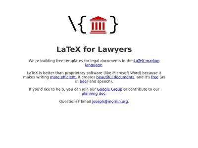 LaTeX for Laywers - Free and open source legal documents
