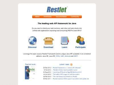 Restlet - RESTful web framework for Java   BibSonomy