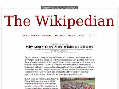 Why Aren't There More Wikipedia Editors? The Wikipedian