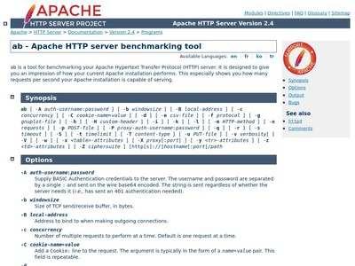 ab - Apache HTTP server benchmarking tool - Apache HTTP Server
