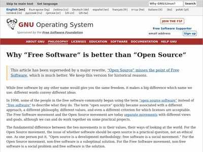 why open source misses the point of free software