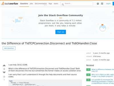 delphi - the Difference of TIdTCPConnection Disconnect and