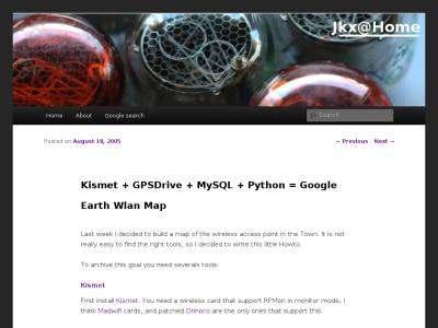 Kismet + GPSDrive + MySQL + Python = Google Earth Wlan Map on Jkx