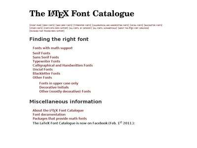The LaTeX Font Catalogue – Front Page | BibSonomy