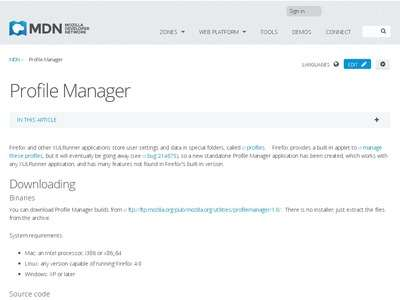 FIREFOX - Profile Manager | MDN - Multiple installations de