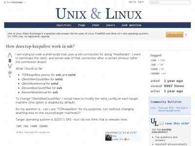 How does tcp-keepalive work in ssh? - Unix & Linux Stack