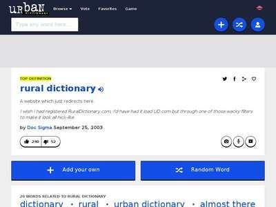 Urban Dictionary: rural dictionary   BibSonomy