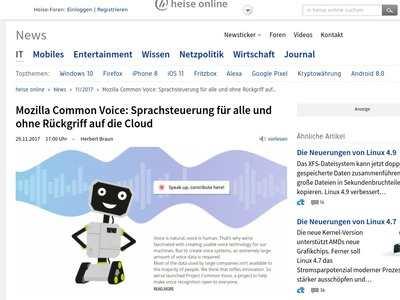 Mozilla Common Voice: Sprachsteuerung für alle und ohne Rückgriff