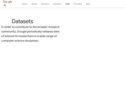 Datasets – Google AI | BibSonomy