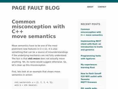 Common misconception with C++ move semantics – Page Fault Blog