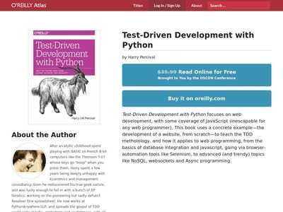 Test-Driven Web Development with Python   BibSonomy