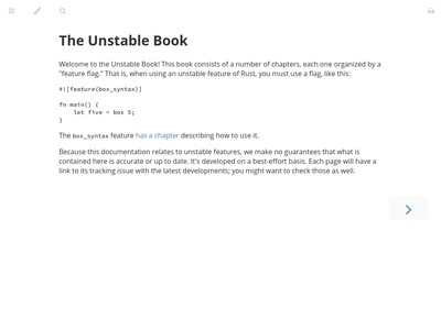 The Unstable Book - Rust Core Team | BibSonomy