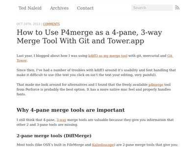 How to use p4merge as a 4-pane, 3-way merge tool with Git