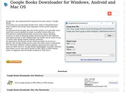 Google Books Downloader for Windows, Android and Mac OS X | BibSonomy