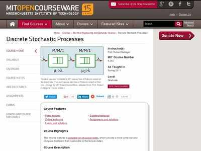 Discrete Stochastic Processes | Electrical Engineering and