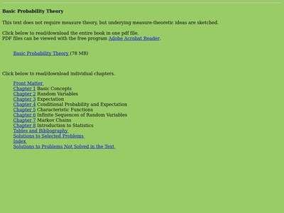 Basic Probability Theory | BibSonomy