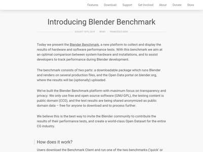 Introducing Blender Benchmark — blender org | BibSonomy