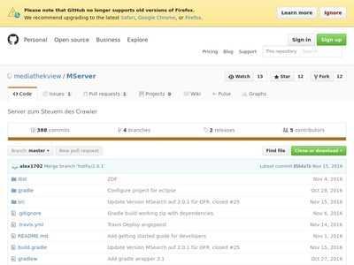 GitHub - mediathekview/MServer: Server zum Steuern des Crawler